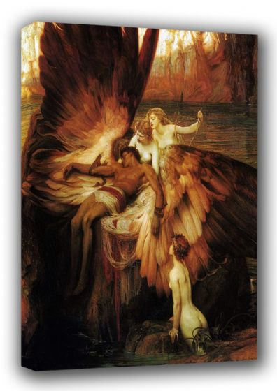 Draper, Herbert James: The Lament of Icarus. Fine Art Canvas. Sizes: A3/A2/A1 (00464)